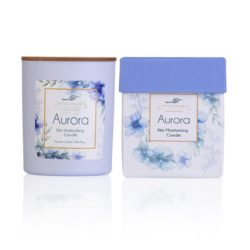 LITTLE SECRETS Aurora candle – Ενυδατικό, αρωματικό κερί σόγιας με άρωμα βανίλιας, κέδρο, κανέλα